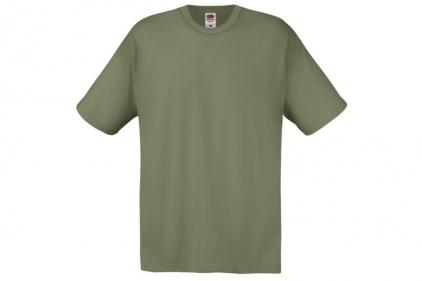 Daft Donkey T-Shirt 'Weekend Forecast' (Olive) - Size Medium