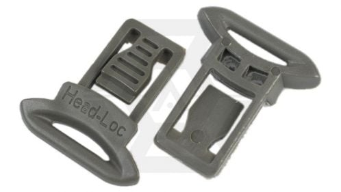 FMA Helmet Clips for Goggle & Mask Straps (Grey) © Copyright Zero One Airsoft