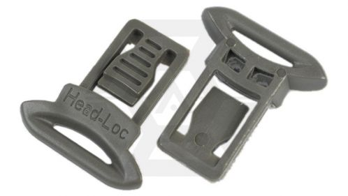 FMA Helmet Clips for Goggle & Mask Straps (Grey)