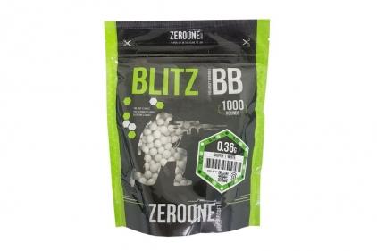 Zero One Blitz Bio BB 0.36g 1000rds (White) - NEW © Copyright Zero One Airsoft