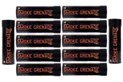 Enola Gaye Wire Pull Smoke (Orange) Box of 10 (Bundle) © Copyright Zero One Airsoft