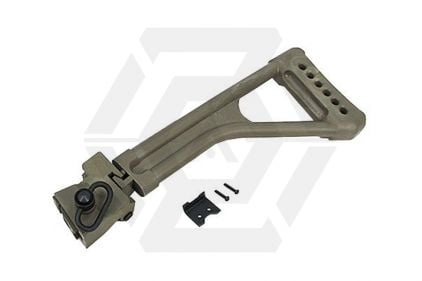 King Arms Folding Stock for AK (Olive) © Copyright Zero One Airsoft