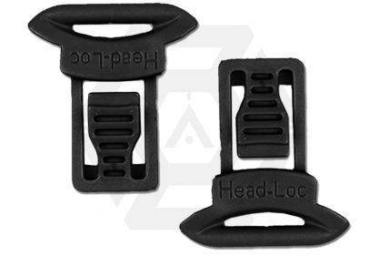FMA Helmet Clips for Goggle & Mask Straps (Black)