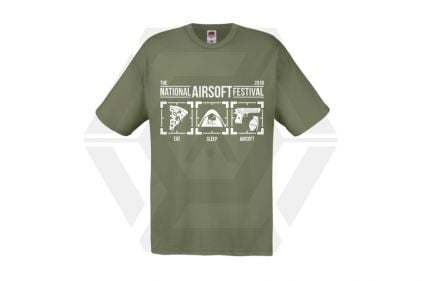 Daft Donkey Special Edition NAF 2018 'Eat, Sleep, Airsoft' T-Shirt (Olive) - £12.50