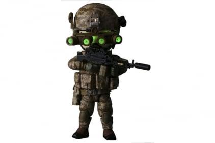 "Figure Base Trickyman 5"" Seal Team 6 Gunner Action Figure"