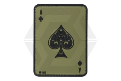 "101 Inc PVC Velcro Patch ""Ace of Spades"" (Olive)"