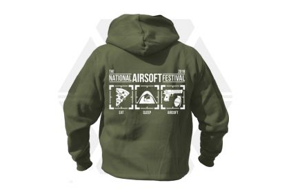 Daft Donkey Special Edition NAF 2018 'Eat, Sleep, Airsoft' Viper Zipped Hoodie (Olive)