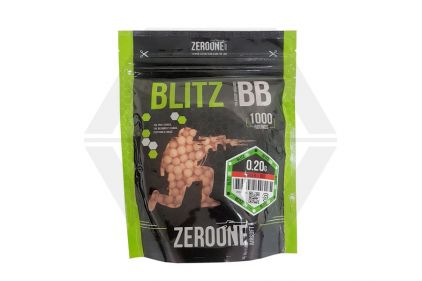 Zero One Blitz Bio BB Tracer 0.20g 1000rds (Red Glow) - NEW © Copyright Zero One Airsoft