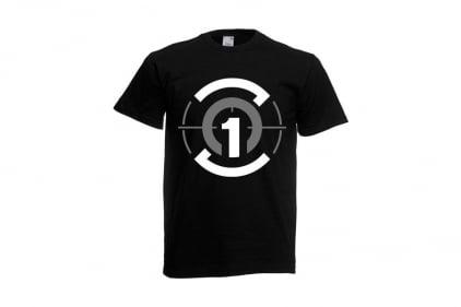 Daft Donkey T-Shirt 'Zero One Logo' (Black) - Size Medium © Copyright Zero One Airsoft