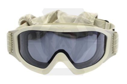 Blueye Tactical Goggles Granite Mission Tan Frame & Smoke/Clear Lenses