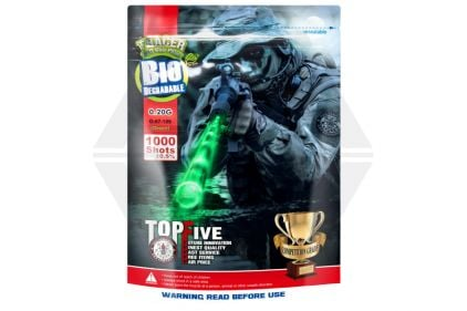 G&G Bio BB Tracer 0.20g 1000rds (Green Glow) © Copyright Zero One Airsoft