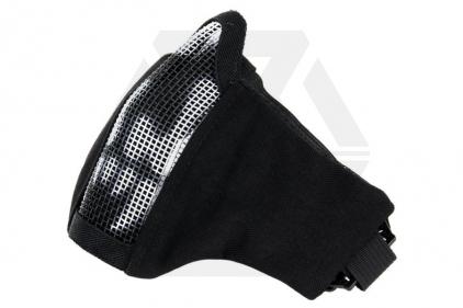 101 Inc Padded 'Skull Mesh Mask (Black) © Copyright Zero One Airsoft