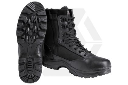 Mil-Com Recon Side Zip Boot (Black) - Size 4 © Copyright Zero One Airsoft