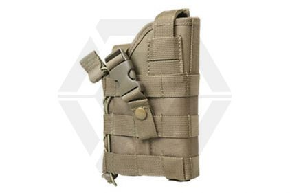 NCS VISM Ambidextrous MOLLE Holster (Tan) © Copyright Zero One Airsoft