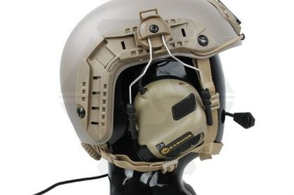 EB OPSMEN M32H Headset for Helmet Rails (Military Standard Plug) (Tan)