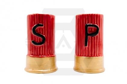 Caliber Gourmet Shotgun Salt & Pepper Shakers © Copyright Zero One Airsoft