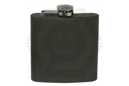 MFH Stainless Steel Hip Flask (Olive)
