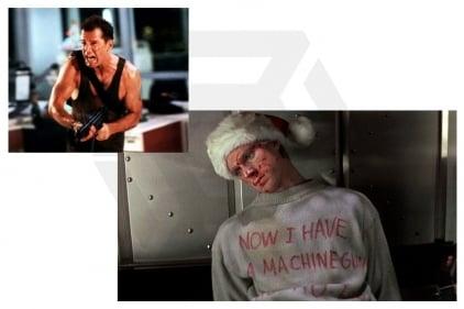 Daft Donkey Christmas T-Shirt 'Bloody Ho Ho Ho' (Light Grey) - Size Large