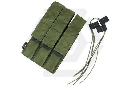 TMC MOLLE Triple Mag Pouch for SMG (Olive) © Copyright Zero One Airsoft