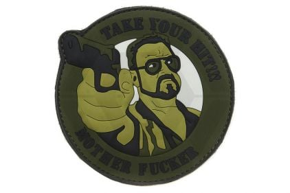 """101 Inc PVC Velcro Patch """"Take Your Hit"""" (Olive)"""