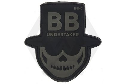 "101 Inc PVC Velcro Patch ""BB Undertaker"" (Black)"
