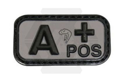 Viper Velcro PVC Blood Group Patch A+ (Black)