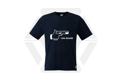 Daft Donkey T-Shirt 'Like Airsoft' (Dark Navy) - Size Large © Copyright Zero One Airsoft