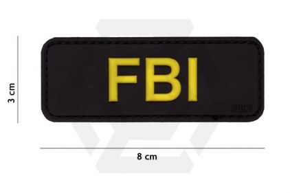 "101 Inc PVC Velcro Patch ""FBI"" (Black)"