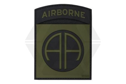 "101 Inc PVC Velcro Patch ""82nd Airborne"" (Olive)"
