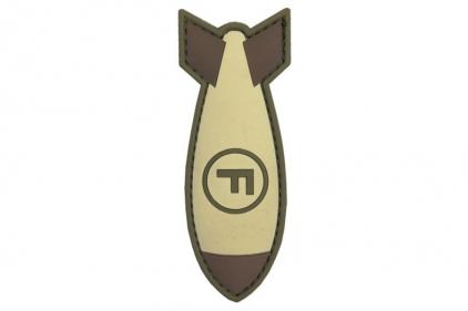 "101 Inc PVC Velcro Patch ""F-Bomb"" (Brown)"