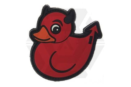 "101 Inc PVC Velcro Patch ""Devil Duck"" (Red) © Copyright Zero One Airsoft"