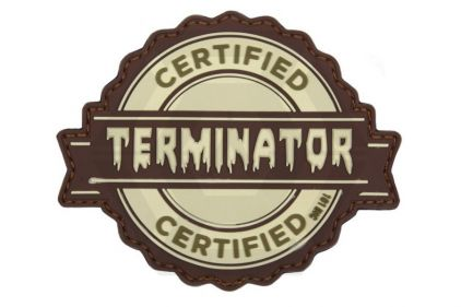 "101 Inc PVC Velcro Patch ""Certified Terminator"""