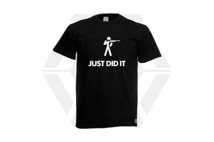 Daft Donkey T-Shirt 'Just Did It' (Black) - Size Small