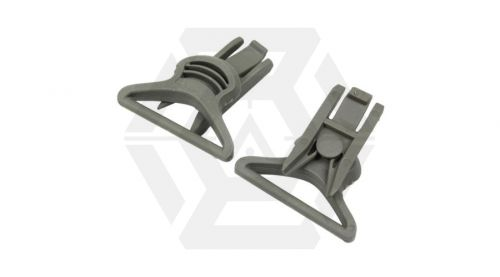 FMA Helmet Swivel Clips for Goggle & Mask Straps (Grey) © Copyright Zero One Airsoft