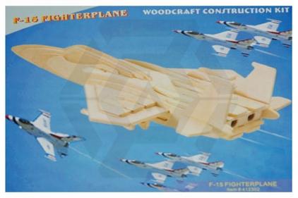 """VOS 3D Wooden Puzzle """"F-15"""""""