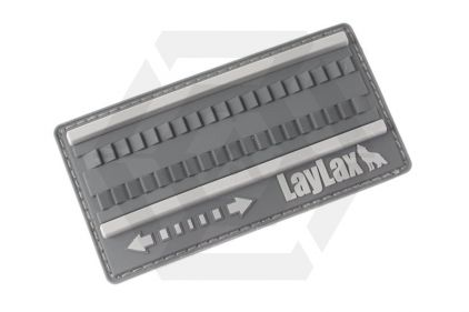 Laylax (Satellite) Hayamaki Fast Winding PVC Velcro Patch (Grey)