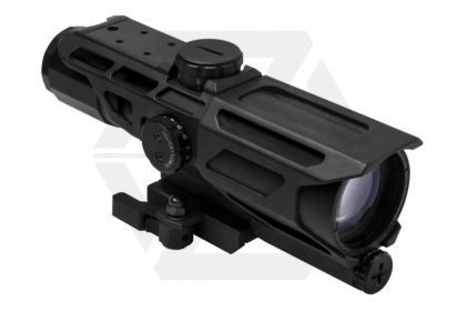 NCS 3-9x40 Scope with Blue/Red Illuminating P4 Sniper Reticle & QR Mount