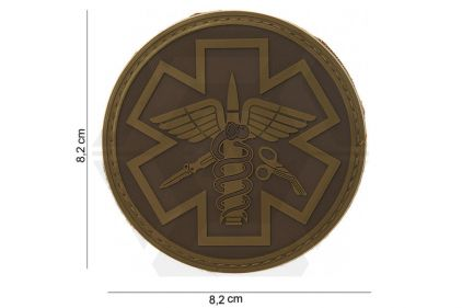 "VOS PVC Velcro Patch ""Paramedic"" (Dark Earth)"
