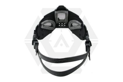 TMC Half Face Mask with Fast Helmet Adaptors (Black)