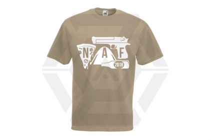 Daft Donkey Special Edition NAF 2018 'Airsoft Festival' T-Shirt (Tan) © Copyright Zero One Airsoft