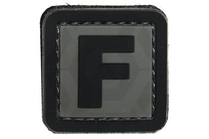 "VOS PVC Velcro Patch ""F"""