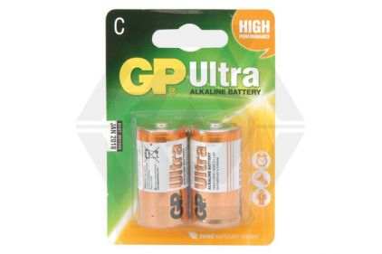 GP Ultra Alkaline Batteries C Cell (Pack Of 2)