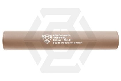 APS Suppressor 14mm CW/CCW 190mm (Dark Earth) © Copyright Zero One Airsoft