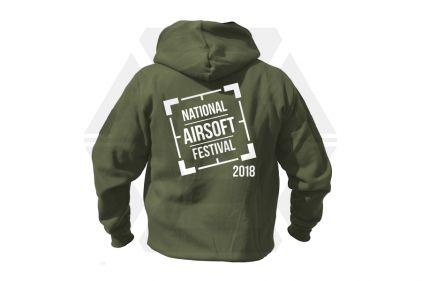Daft Donkey Special Edition NAF 2018 'Original Logo' Viper Zipped Hoodie (Olive)