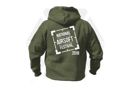 Daft Donkey Special Edition NAF 2018 'Original Logo' Viper Zipped Hoodie (Olive)