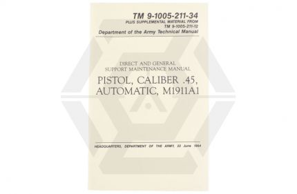 U.S Army M1911A1 Technical Manual © Copyright Zero One Airsoft
