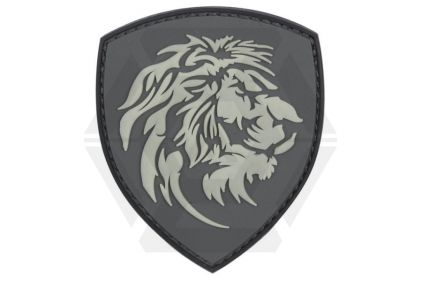 "101 Inc PVC Velcro Patch ""Lion"" (Grey)"