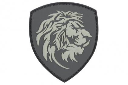 """101 Inc PVC Velcro Patch """"Lion"""" (Grey)"""