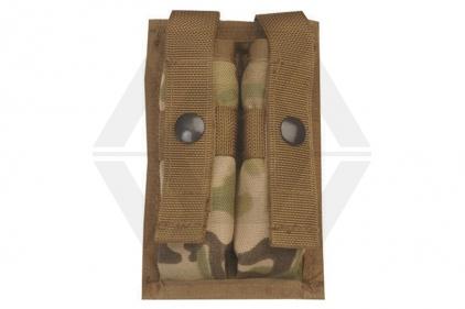 Tru-Spec 9mm Double Pistol Mag Pouch for MOLLE Vests (MultiCam)
