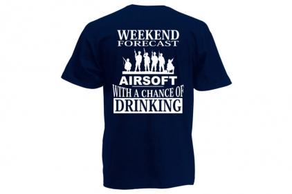 Daft Donkey T-Shirt 'Weekend Forecast' (Dark Navy) - Size Large - £9.95